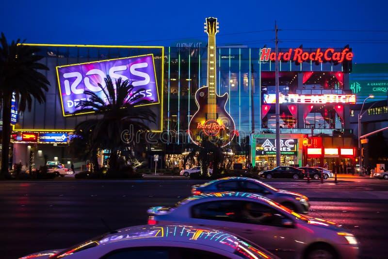 Κεντρικός δρόμος του Λας Βέγκας τη νύχτα στοκ εικόνα με δικαίωμα ελεύθερης χρήσης