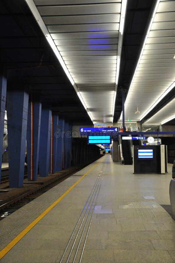 κεντρικός σιδηροδρομικός σταθμός Βαρσοβία στοκ φωτογραφίες