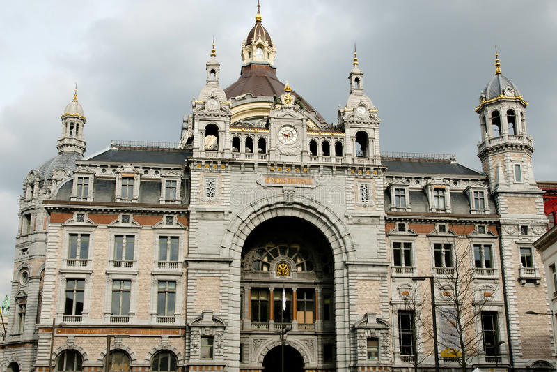 Κεντρικός σιδηροδρομικός σταθμός - Αμβέρσα - Βέλγιο στοκ φωτογραφία με δικαίωμα ελεύθερης χρήσης