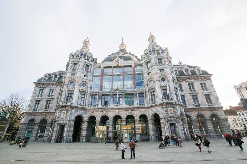 Κεντρικός σιδηροδρομικός σταθμός στην Αμβέρσα, Βέλγιο στοκ εικόνα με δικαίωμα ελεύθερης χρήσης