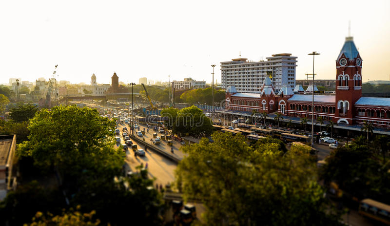 Κεντρικός σιδηροδρομικός σταθμός Chennai στοκ φωτογραφία