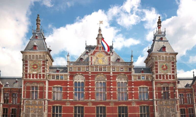 κεντρικός σταθμός του Άμστερνταμ στοκ εικόνα