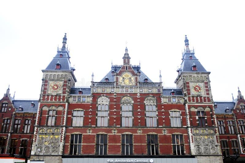 Κεντρικός σταθμός του Άμστερνταμ στοκ εικόνες