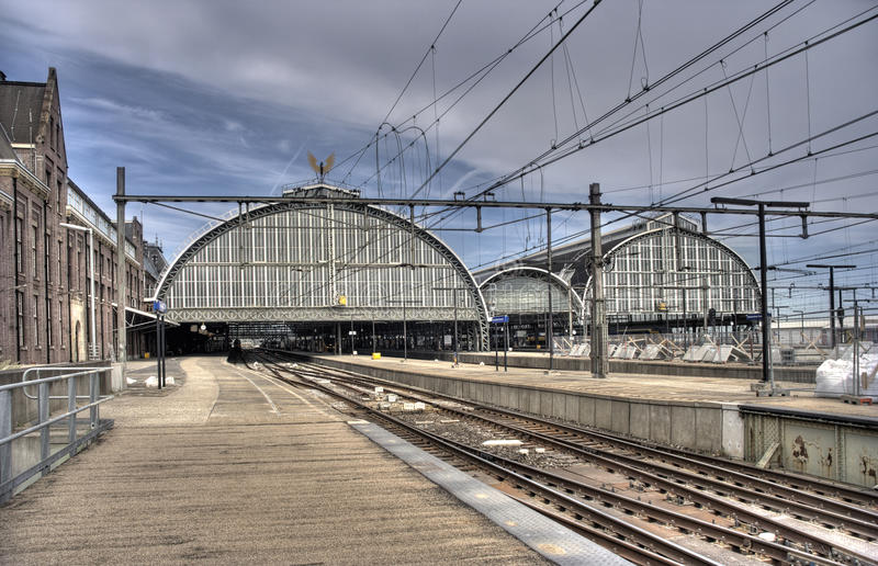 κεντρικός σταθμός του Άμσ& στοκ φωτογραφία με δικαίωμα ελεύθερης χρήσης