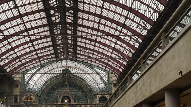 Κεντρικός σταθμός τρένου της Αμβέρσας στοκ εικόνες