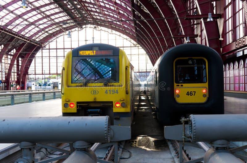 Κεντρικός σταθμός τρένου της Αμβέρσας στοκ φωτογραφίες με δικαίωμα ελεύθερης χρήσης