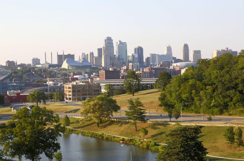 Κεντρικός της άποψης Μισσούρι ΗΠΑ του Κάνσας πόλεων στοκ φωτογραφίες
