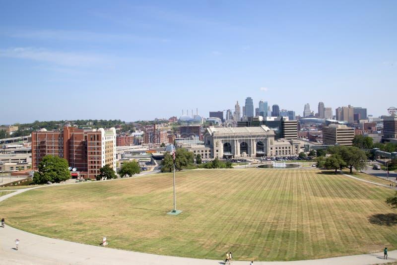 Κεντρικός της πόλης Μισσούρι Midwest ΗΠΑ του Κάνσας στοκ φωτογραφίες με δικαίωμα ελεύθερης χρήσης