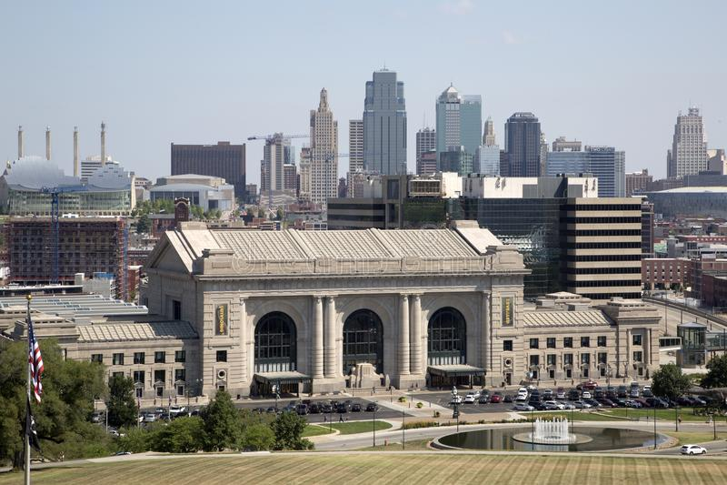 Κεντρικός του Κάνσας Μισσούρι Midwest ΗΠΑ στοκ εικόνες με δικαίωμα ελεύθερης χρήσης