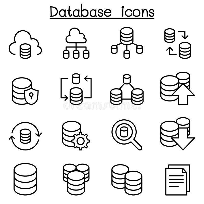 Κεντρικός υπολογιστής, βάση δεδομένων, φιλοξενία, διανομή, σύνολο εικονιδίων υπολογισμού σύννεφων μέσα διανυσματική απεικόνιση