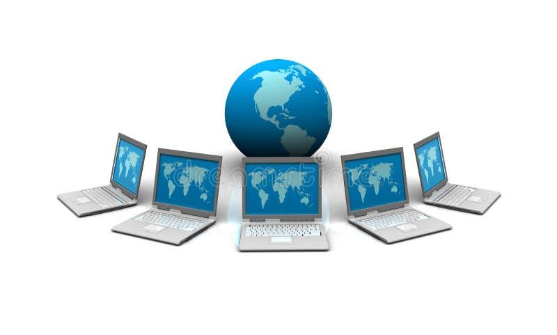Κεντρικός υπολογιστής δικτύων διανυσματική απεικόνιση