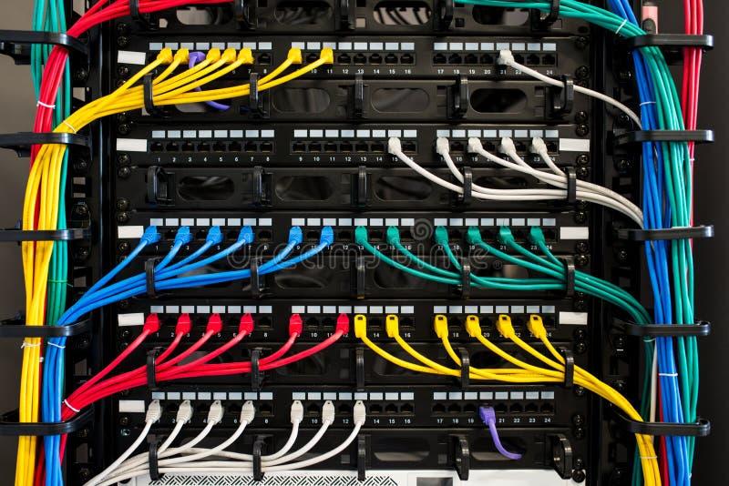 Κεντρικός υπολογιστής και καλώδια στοκ εικόνες