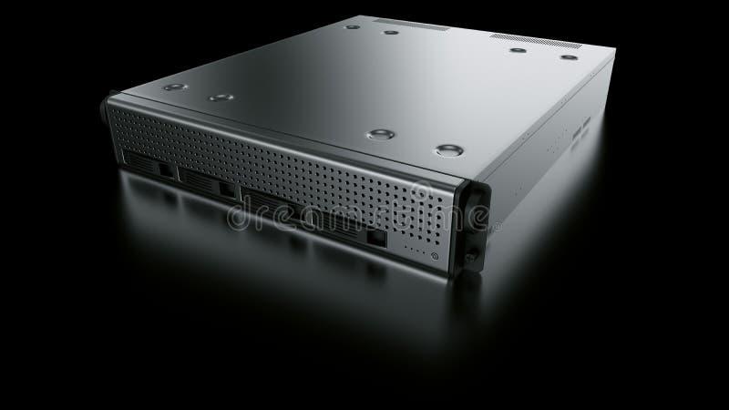 κεντρικός υπολογιστής ραφιών διανυσματική απεικόνιση