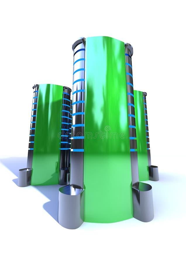 κεντρικός υπολογιστής απεικόνιση αποθεμάτων