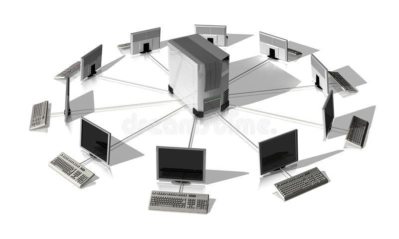 Κεντρικός υπολογιστής δικτύων ελεύθερη απεικόνιση δικαιώματος