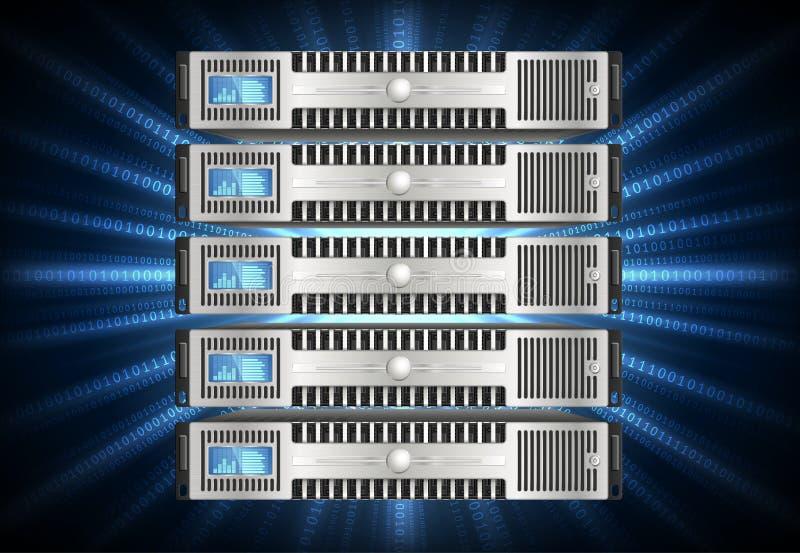 Κεντρικός υπολογιστής στον κυβερνοχώρο διανυσματική απεικόνιση