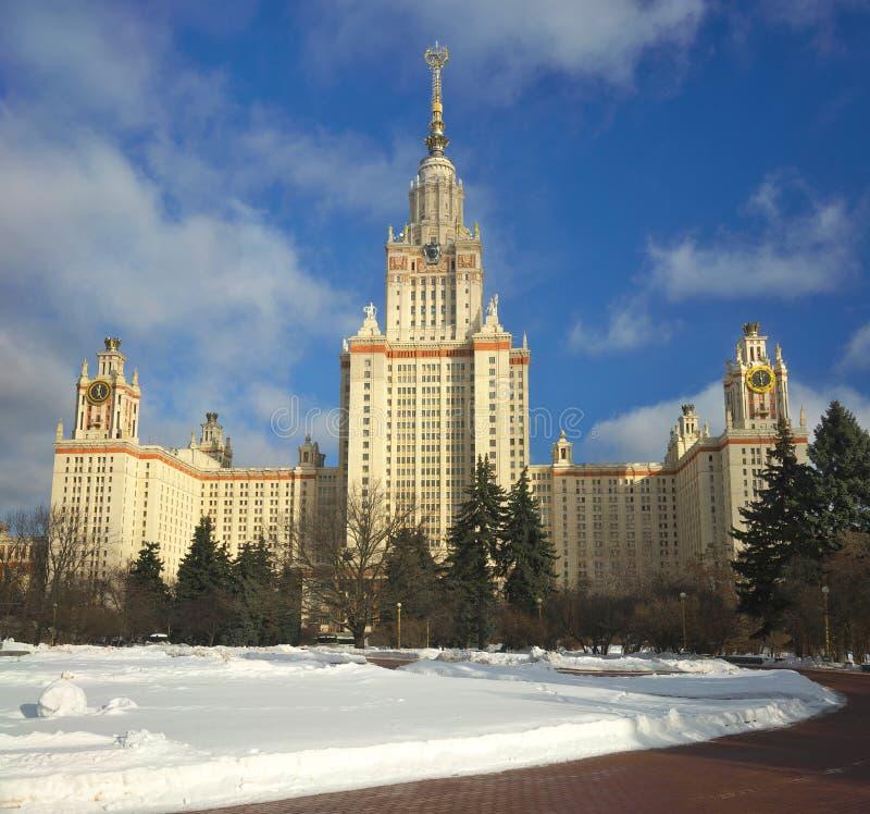 Κεντρικό κτίριο του κρατικού πανεπιστημίου Lomonosov Μόσχα MGU Μόσχα Ρωσία στοκ φωτογραφία
