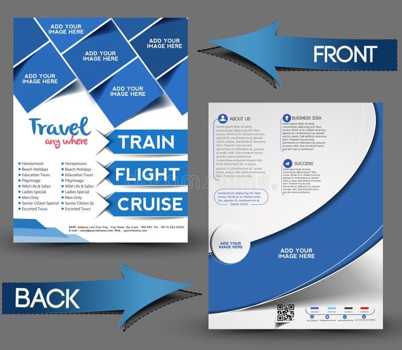 Κεντρικό μπροστινό & πίσω ιπτάμενο ταξιδιού ελεύθερη απεικόνιση δικαιώματος
