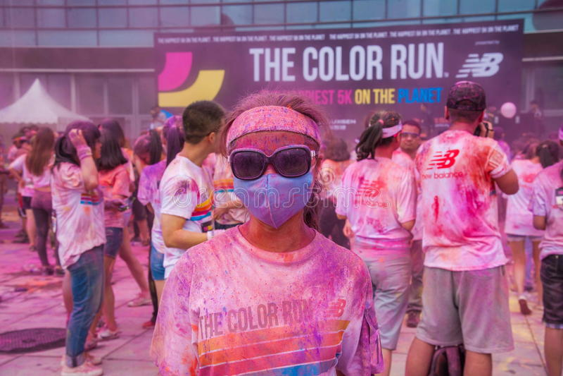 Κεντρικό χρώμα έκθεσης Chongqing που οργανώνεται στους νέους στοκ εικόνες με δικαίωμα ελεύθερης χρήσης