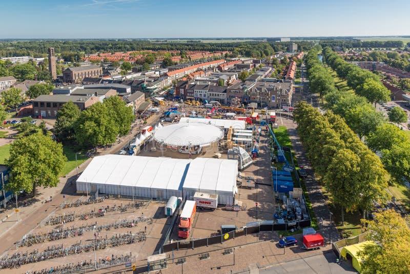 Κεντρικό plaza Emmeloord με το γεωργικό φεστιβάλ πατατών, οι Κάτω Χώρες στοκ εικόνες με δικαίωμα ελεύθερης χρήσης