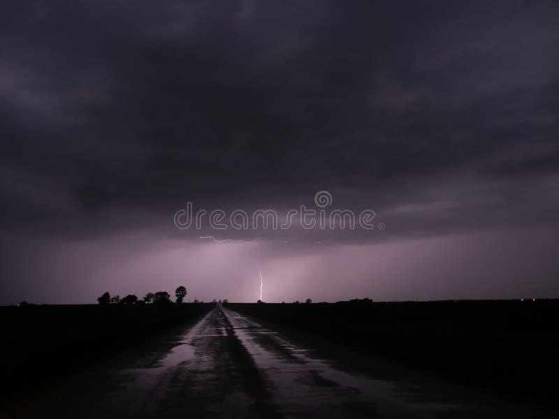 κεντρικό thunderstorm αστραπής του &Io στοκ φωτογραφίες