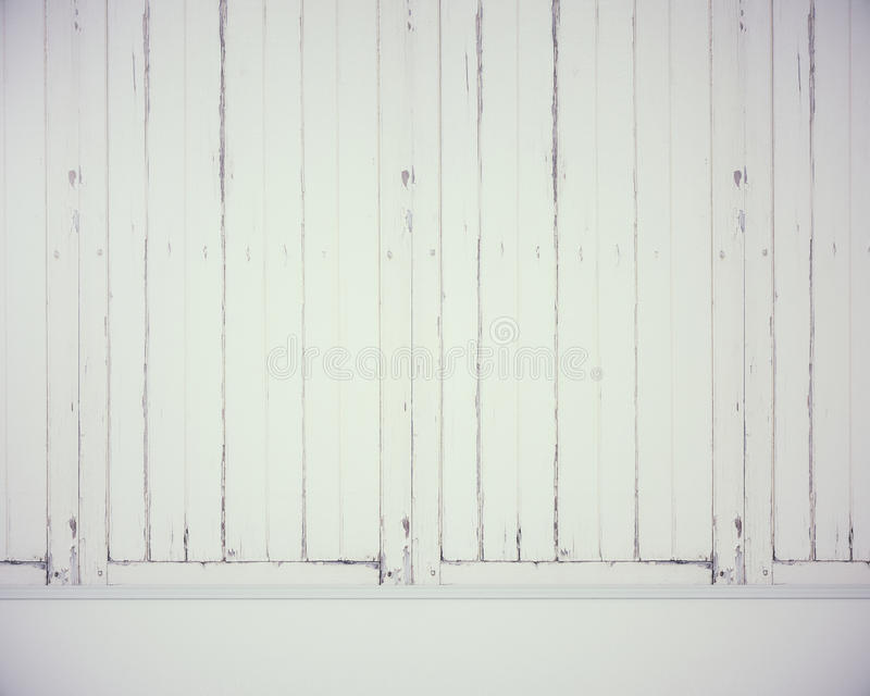Κενός άσπρος ξύλινος τοίχος στοκ εικόνα με δικαίωμα ελεύθερης χρήσης