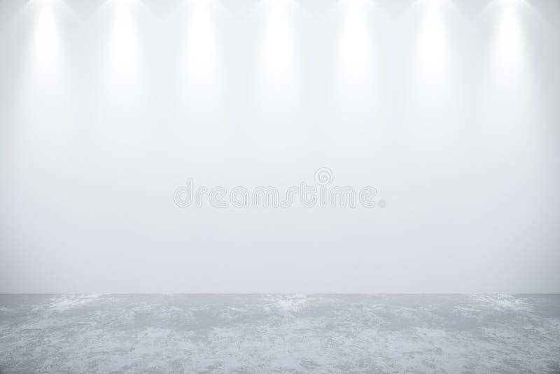 Κενός άσπρος τοίχος στο δωμάτιο στοκ φωτογραφία