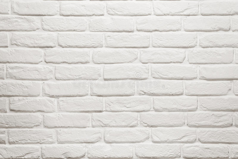 Κενός άσπρος τουβλότοιχος στοκ εικόνα με δικαίωμα ελεύθερης χρήσης