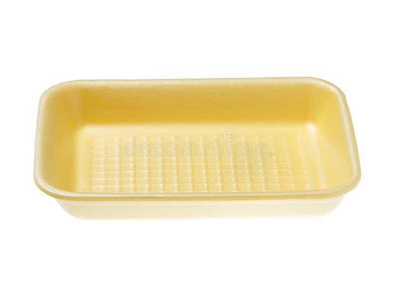 Κενός δίσκος τροφίμων στο άσπρο υπόβαθρο στοκ εικόνα