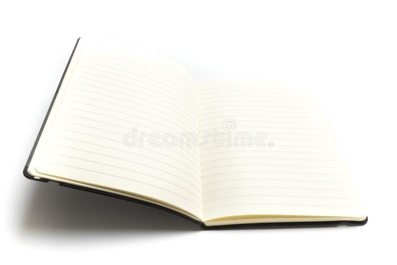 Κενός βιβλίο ή αρμόδιος για το σχεδιασμό που ανοίγουν που απομονώνεται στο άσπρο υπόβαθρο στοκ φωτογραφίες