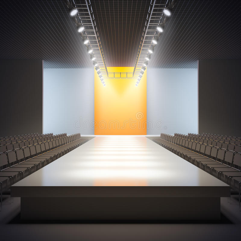 κενός διάδρομος μόδας ελεύθερη απεικόνιση δικαιώματος