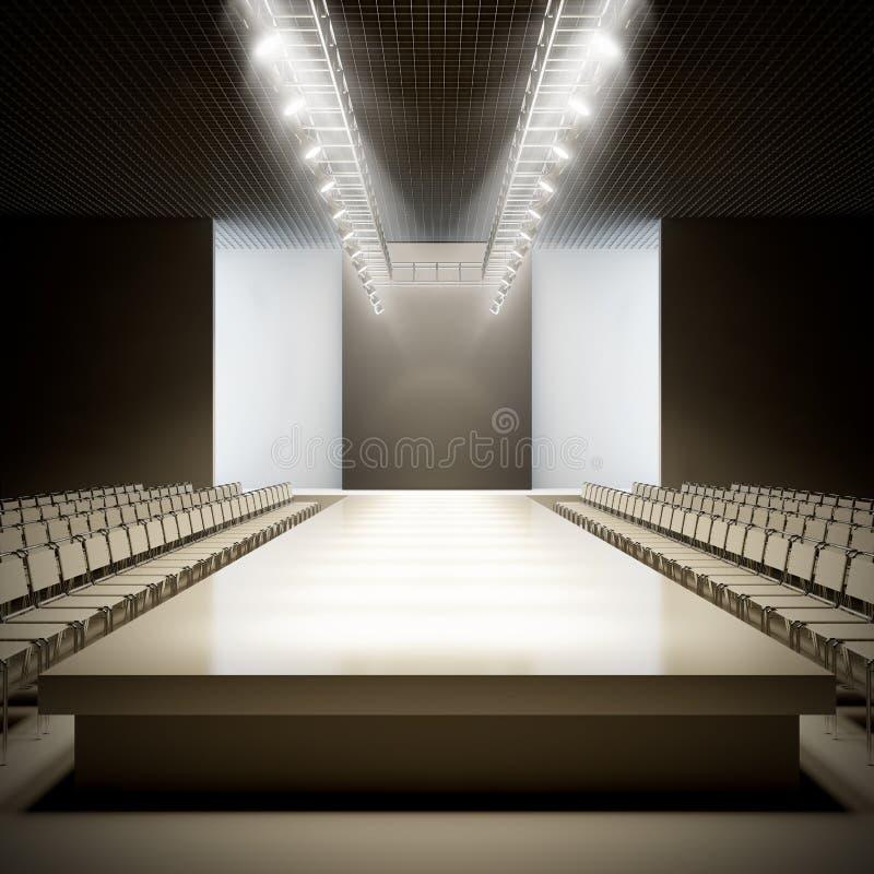 Κενός διάδρομος μόδας. ελεύθερη απεικόνιση δικαιώματος
