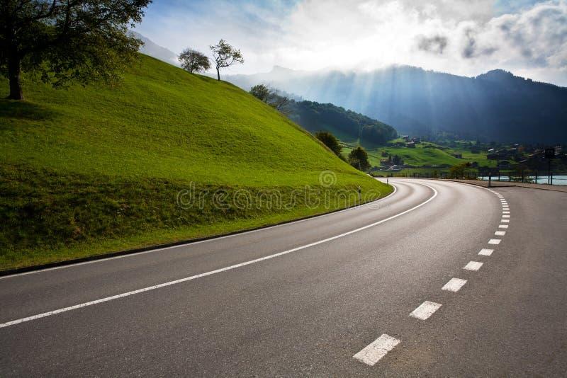 κενός δρόμος επαρχίας στοκ εικόνες