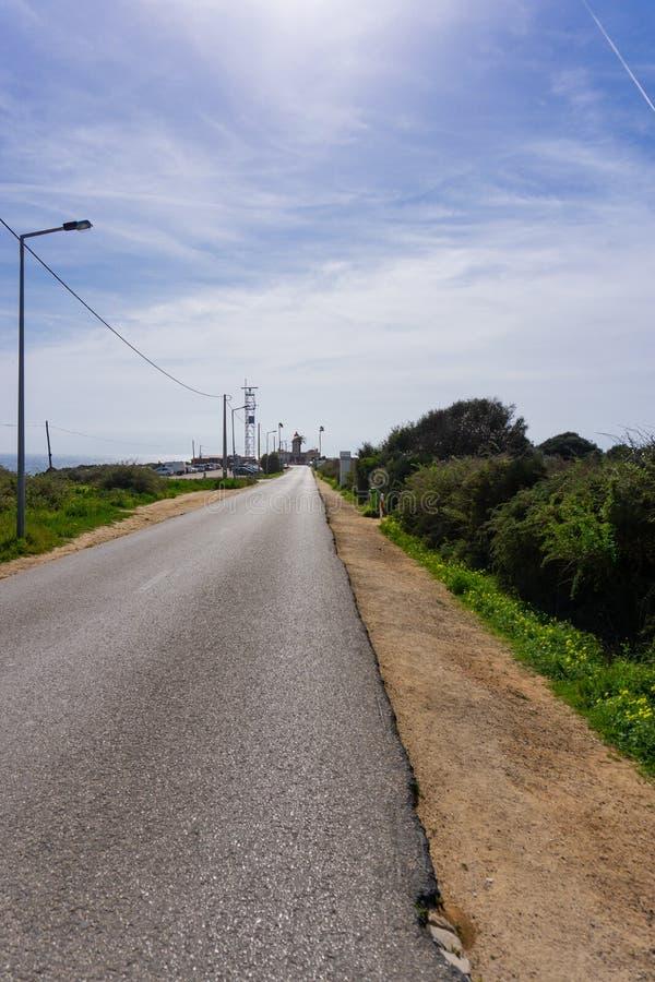 Κενός δρόμος στο φάρο Ponte DA Piedade στοκ εικόνες