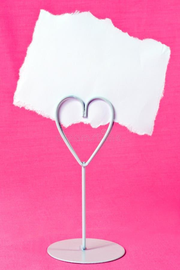 κενός κάτοχος καρδιών κα&rh στοκ φωτογραφία με δικαίωμα ελεύθερης χρήσης