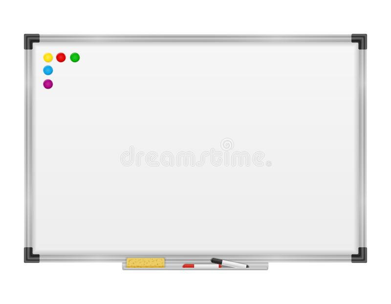 Κενός μαγνητικός δείκτης whiteboard για τη διανυσματική απεικόνιση αποθεμάτων κατάρτισης και εκπαίδευσης παρουσιάσεων απεικόνιση αποθεμάτων