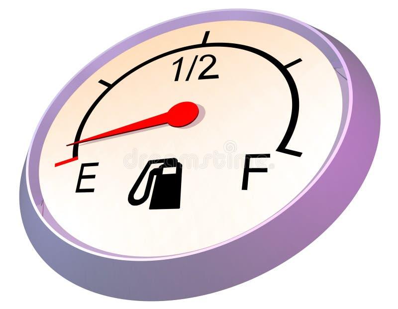 κενός μετρητής καυσίμων ελεύθερη απεικόνιση δικαιώματος