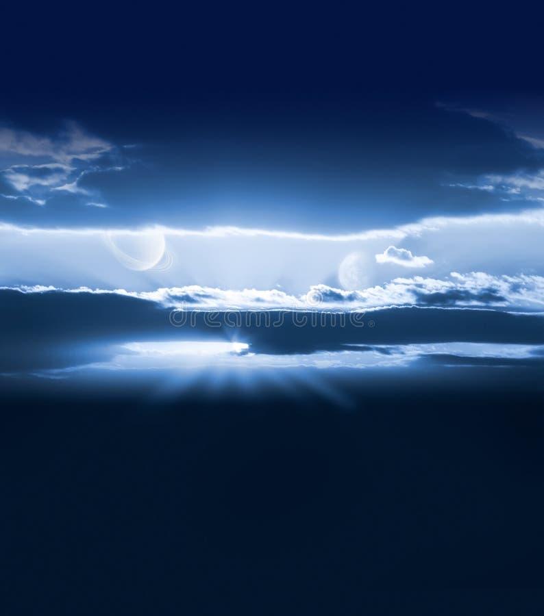κενός ουρανός πλανητών απεικόνιση αποθεμάτων