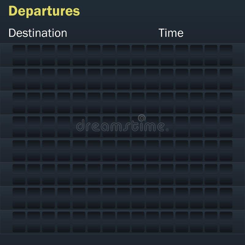 Κενός πίνακας βαθμολογίας πτήσεων προτύπων απεικόνιση αποθεμάτων