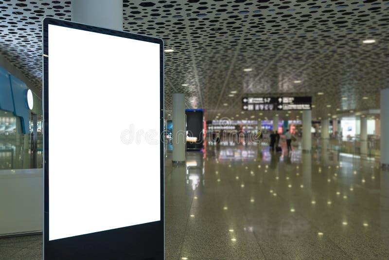 κενός πίνακας διαφημίσεων για τη διαφήμιση της αφίσας στοκ εικόνες