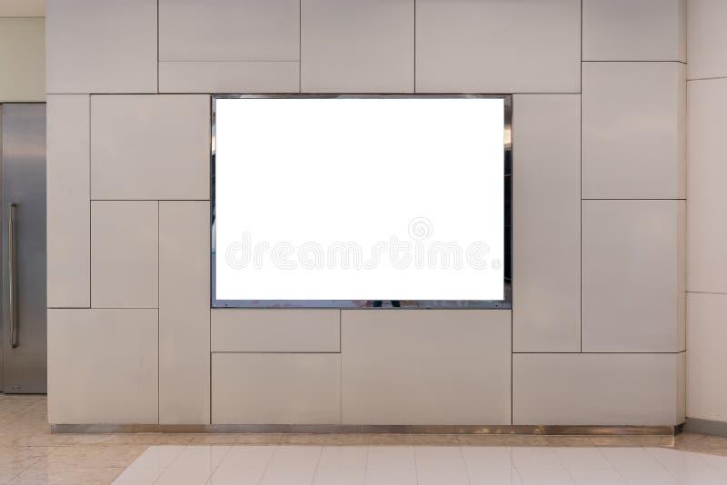 κενός πίνακας διαφημίσεων για τη διαφήμιση της αφίσας στοκ φωτογραφία