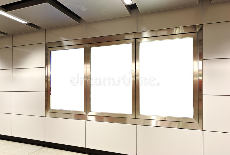 Κενός πίνακας διαφημίσεων στοκ εικόνα με δικαίωμα ελεύθερης χρήσης