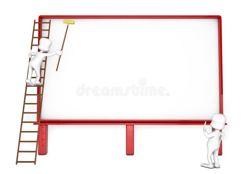 Κενός πίνακας διαφημίσεων ελεύθερη απεικόνιση δικαιώματος