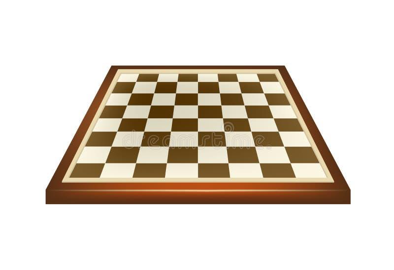 Κενός πίνακας σκακιού στο καφετί σχέδιο διανυσματική απεικόνιση
