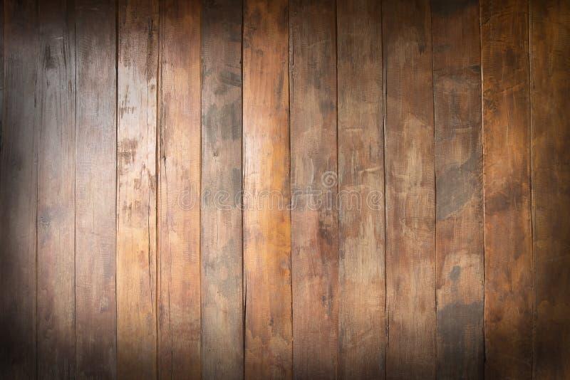 Κενός παλαιός ξύλινος του καφετιού, υποβάθρου σύστασης, διάστημα αντιγράφων ελεύθερη απεικόνιση δικαιώματος