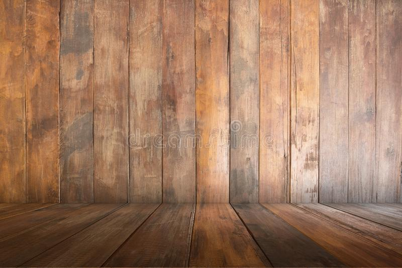 Κενός παλαιός ξύλινος του καφετιού, υποβάθρου σύστασης, διάστημα αντιγράφων στοκ φωτογραφίες