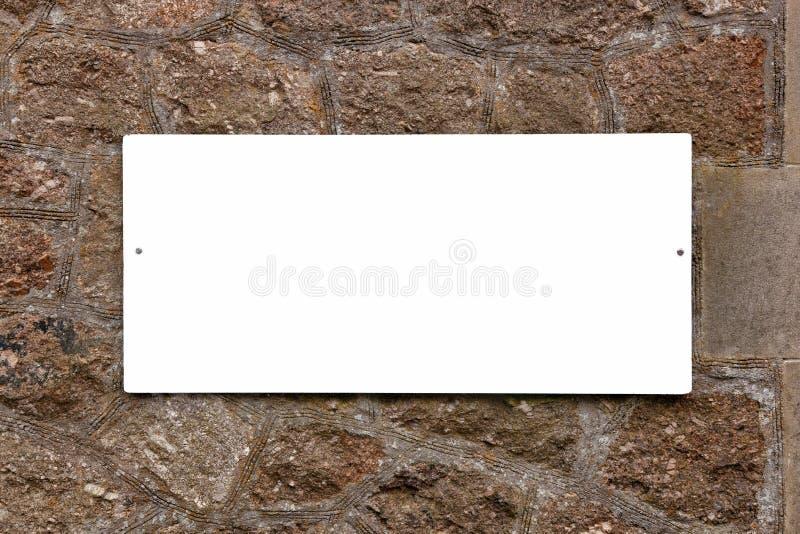 κενός παλαιός τοίχος σημ&alp στοκ εικόνες