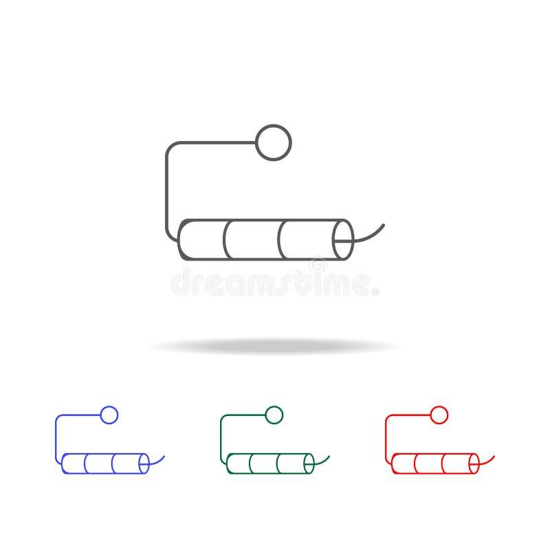 κενός ρόλος του εικονιδίου χαρτιού τουαλέτας Στοιχεία στα πολυ χρωματισμένα εικονίδια για την κινητούς έννοια και τον Ιστό apps Ε διανυσματική απεικόνιση