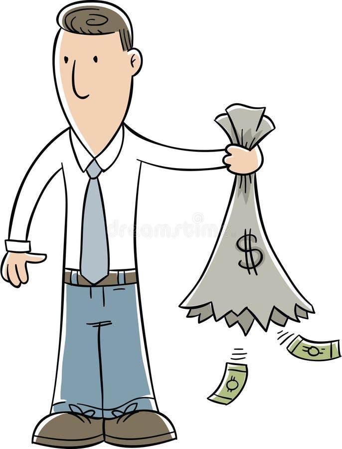 Κενός σάκος χρημάτων ελεύθερη απεικόνιση δικαιώματος