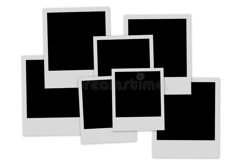 κενός σωρός φωτογραφιών π&lamb διανυσματική απεικόνιση